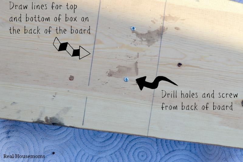 Back of board