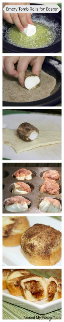 These delicious rolls are the perfect object lesson for kids on Easter morning that teaches the reason for celebrating Easter. My Empty Tomb Rolls are a tradition in our family and have really become a family favorite. Plus I have a secret tip to help keep the rolls together while baking. #easter #emptytombrolls #resurrectionrolls