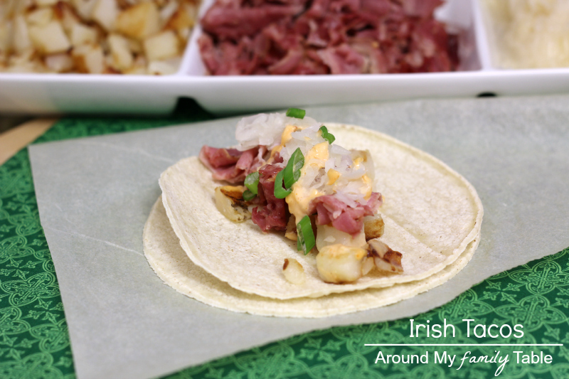 Irish Tacos....a fabulous way to use up leftover corned beef from St. Patrick's Day