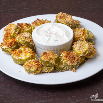 Baked Pickle Chips