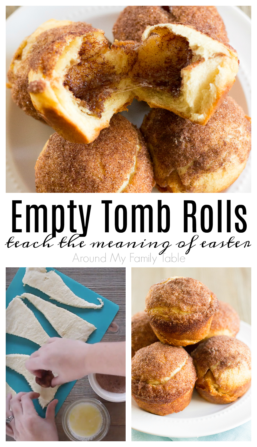 These delicious rolls are the perfect object lesson for kids on Easter morning that teaches the reason for celebrating Easter. My Empty Tomb Rolls are a tradition in our family and have really become a family favorite. Plus I have a secret tip to help keep the rolls together while baking. #easter #emptytombrolls #resurrectionrolls #easterstory #christian