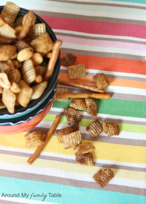 Slow Cooker Snack Mix (gluten free, vegan but can easily be made traditional too)