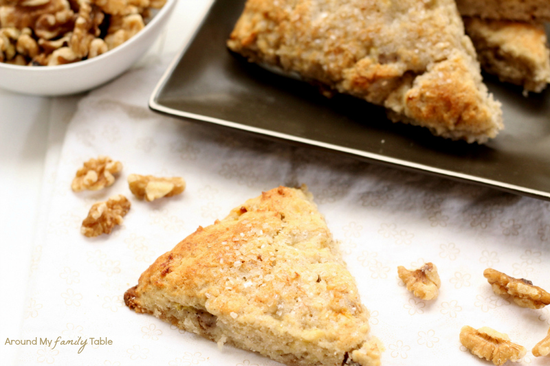 Banana Walnut Scones, so moist and delicious...plus they are gluten free, dairy free, and vegan!
