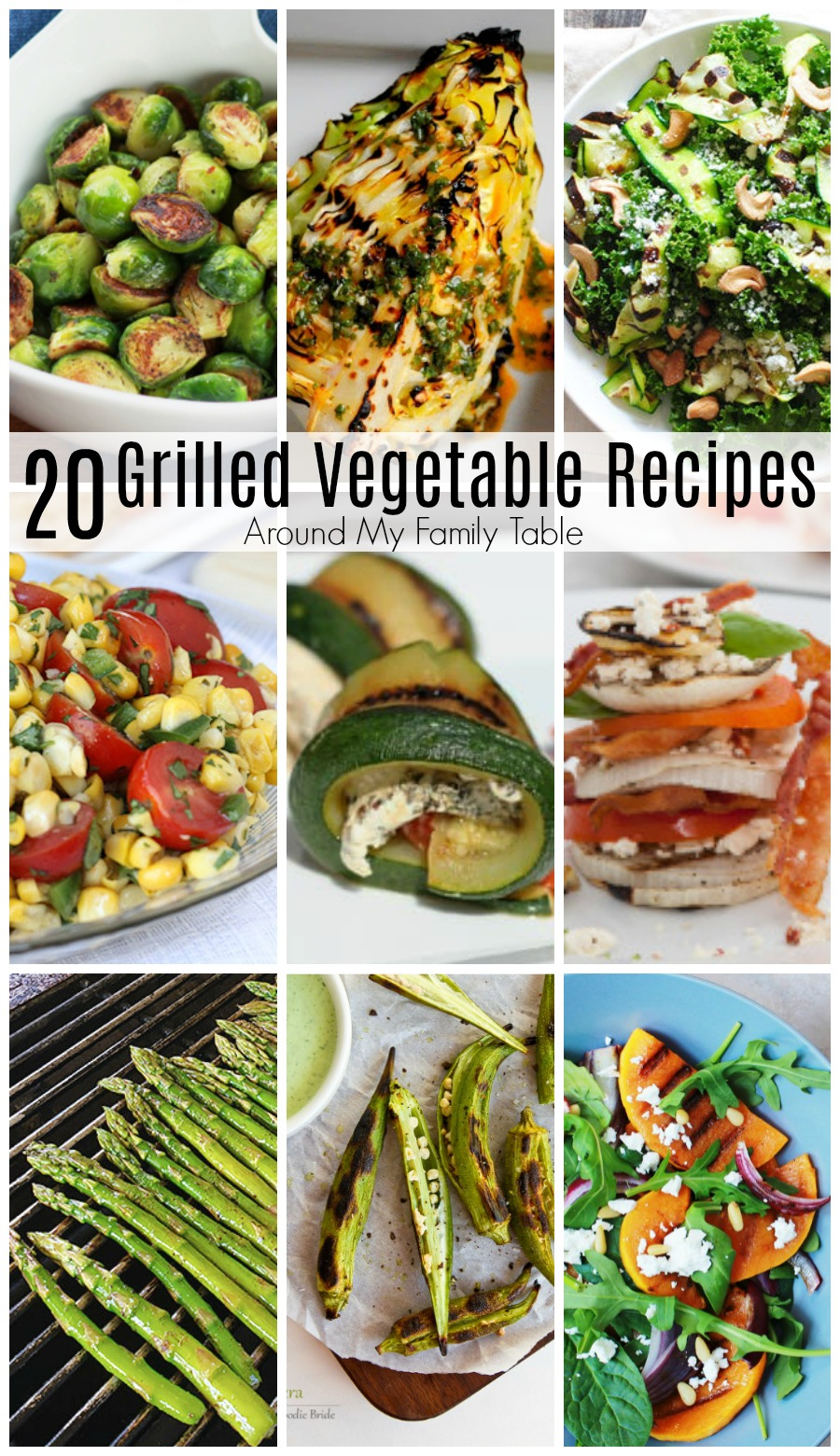 Light up your backyard grill! These 20 Grilled Vegetable Recipes are the perfect addition to your summer menu.