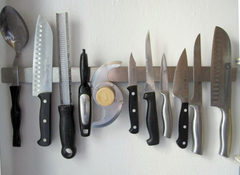 How to Properly Care for Knives -- magnetic knife rack