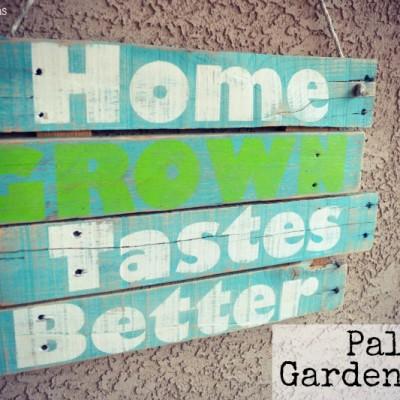 Palette Garden Sign