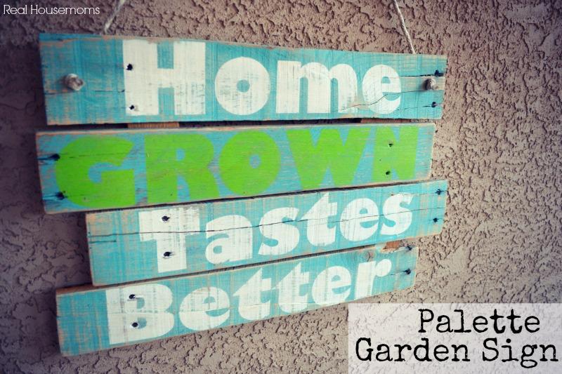 DIY Palette Garden Sign