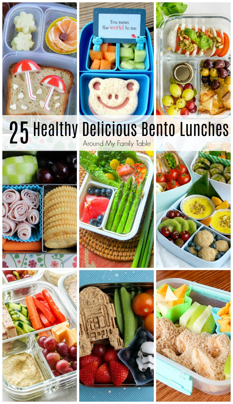 Packing school lunches can be fun with these Healthy & Delicious Bento Lunches. Kids {and parents} will love to eat them too. #bento #lunches #bentolunch #schoollunch #bentobox