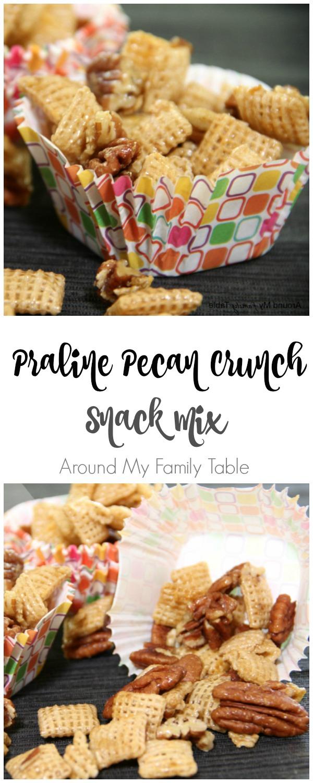Praline Pecan Crunch Snack Mix | #glutenfree #snack