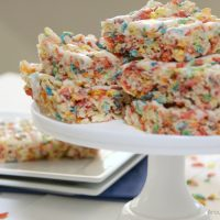 Fruity Pebbles Krispies Treats