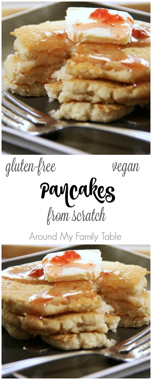 Gluten Free and Vegan Homemade Pancakes from Scratch