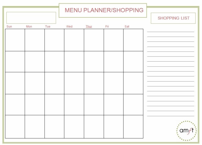 Monthly Menu Planner {Free Printable}