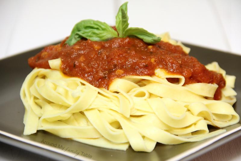 Homemade Pasta and Marinara Sauce!