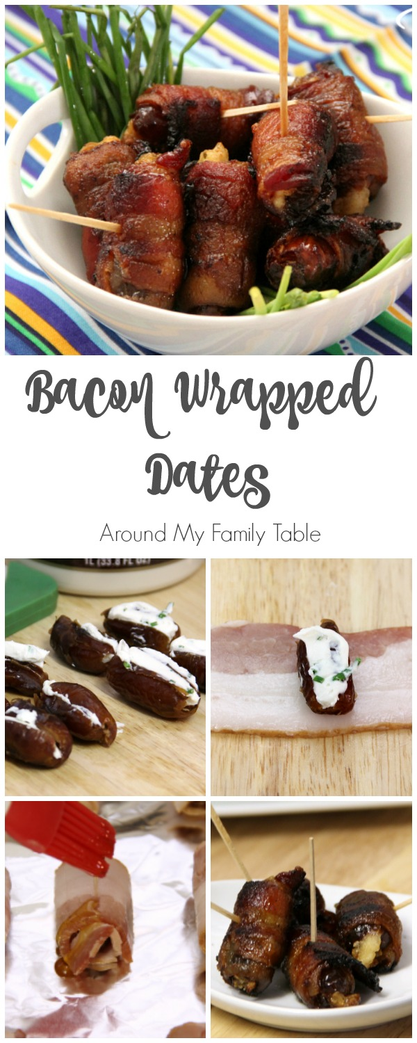 Bacon Wrapped Dates - the perfect easy appetizer for holiday parties, game day, or whenever!