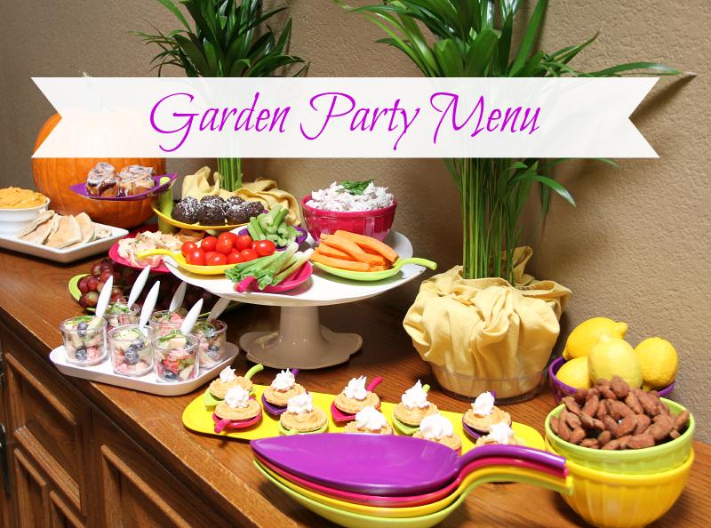 Garden Party Menu