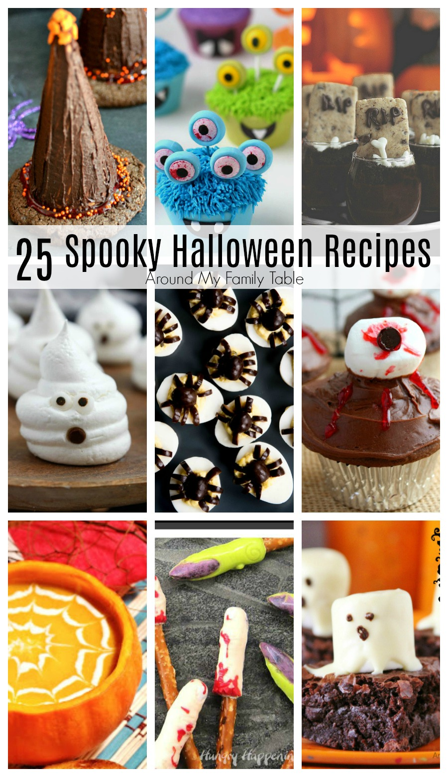 If you are looking for a little inspiration for some Spooky Halloween Recipes, you've come to the right place. These 25 Spooky Halloween Recipes will be the perfect addition to any October party.