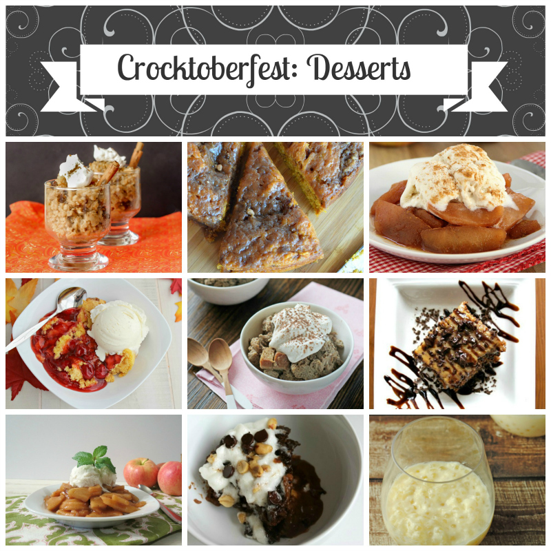 10 scrumptious dessert recipes in a slow cooker -- #Crocktoberfest2013