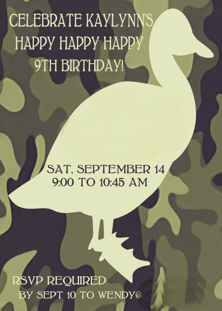 Duck Dynasty Birthday Invite Printable