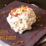Pumpkin Pie Spiced Popcorn Balls