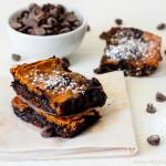 Fudgy Pumpkin Brownies {Gluten Free & Vegan}