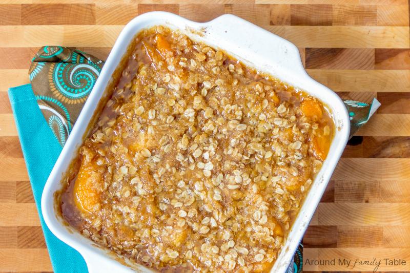 Peach Almond Crisp with Gingersnaps {plus it's Gluten Free and Vegan}