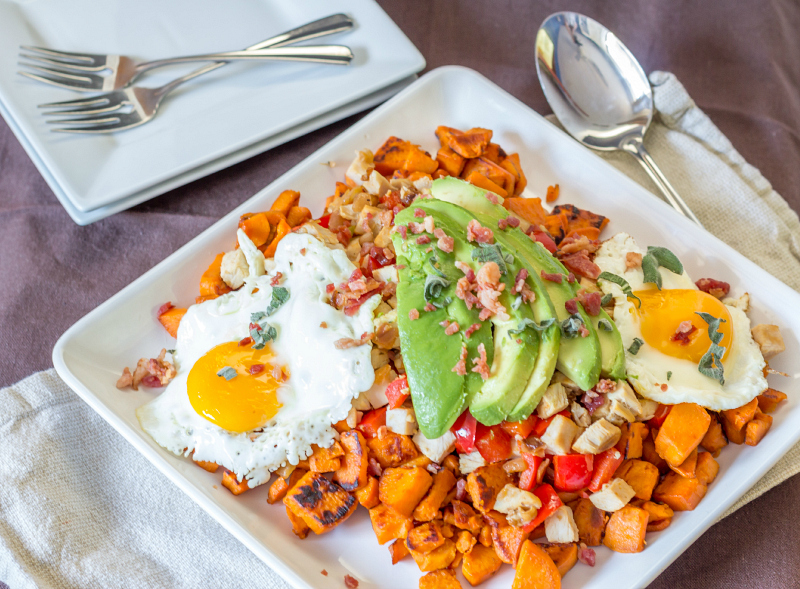 Sweet Potato & Turkey Hash {Perfect for Holiday Leftovers} #15MinuteSuppers