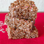 Chocolate Peppermint Rice Krispies Treats