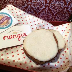 Iced Vanilla Almond Butter Cookies