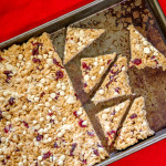 Cranberry and White Chocolate Rice Krispies Treats