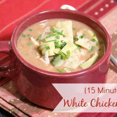 15 Minute White Chicken Chili