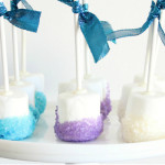 FROZEN Hot Chocolate and Snowflake Marshmallow Pops