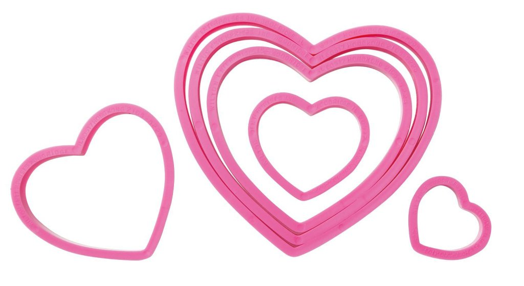 heart shaped cookie cutters