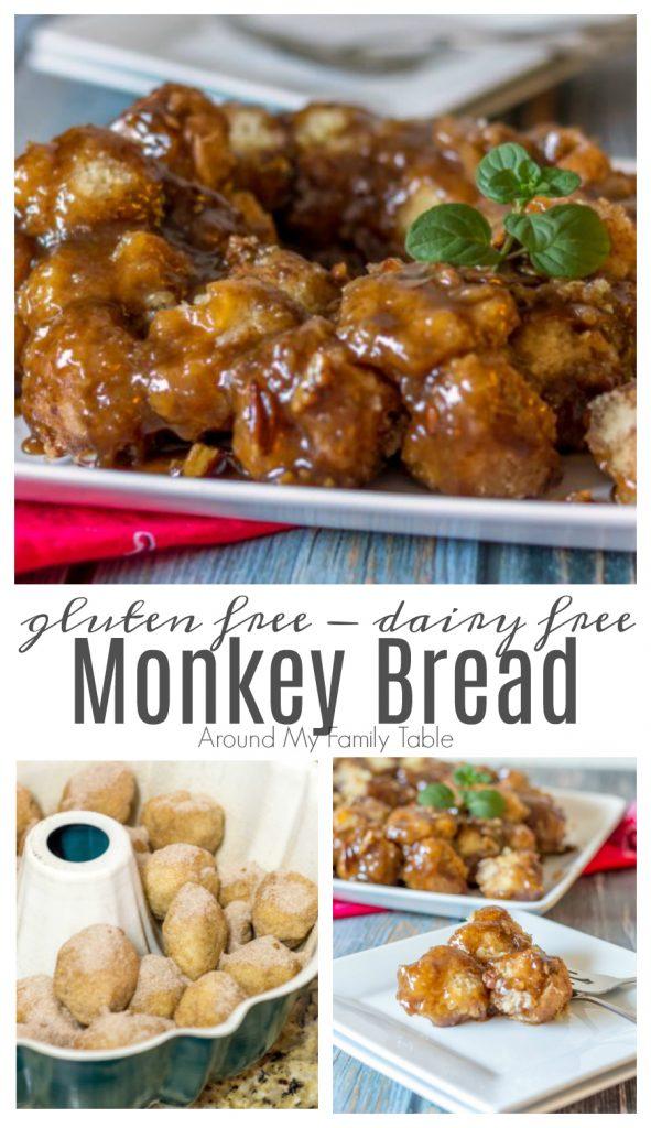 gluten free monkey bread collage with ingredients