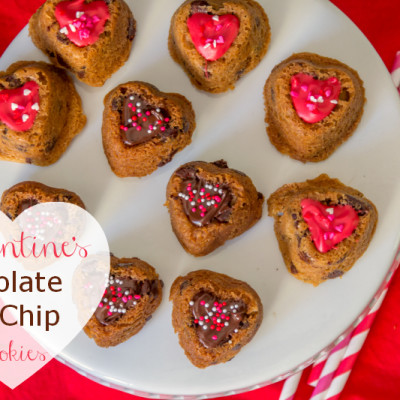 Valentine's Chocolate Chip Cookies