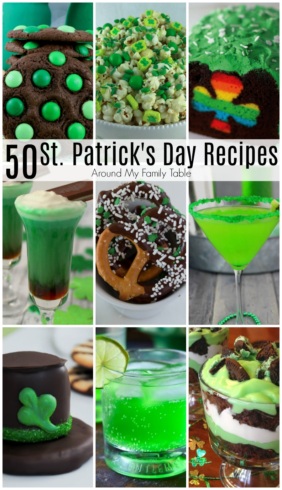 This collection of St. Patrick's Day Recipes has 50 recipes to get you in the lucky Irish spirit! From appetizers to desserts...you'll find everything you need for a delicious and fun holiday!