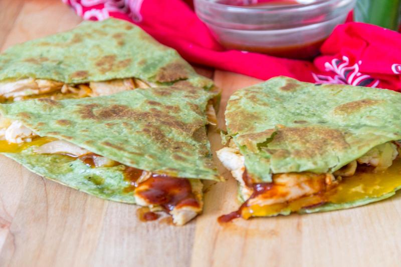 Hawaiian BBQ Chicken Quesadillas #15MinuteSuppers