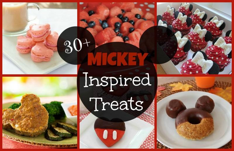 30+ Mickey Inspired Treats #Mickey #DisneySide #Disney