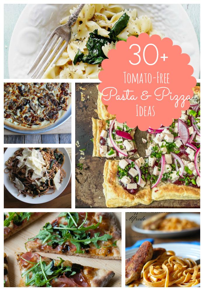 Tomato-Free Pizza & Pasta Ideas