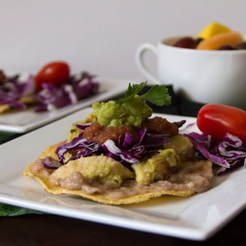 Chicken Avocado Verde Tostados