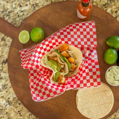 Fish Tacos with Avocado Cream Sauce