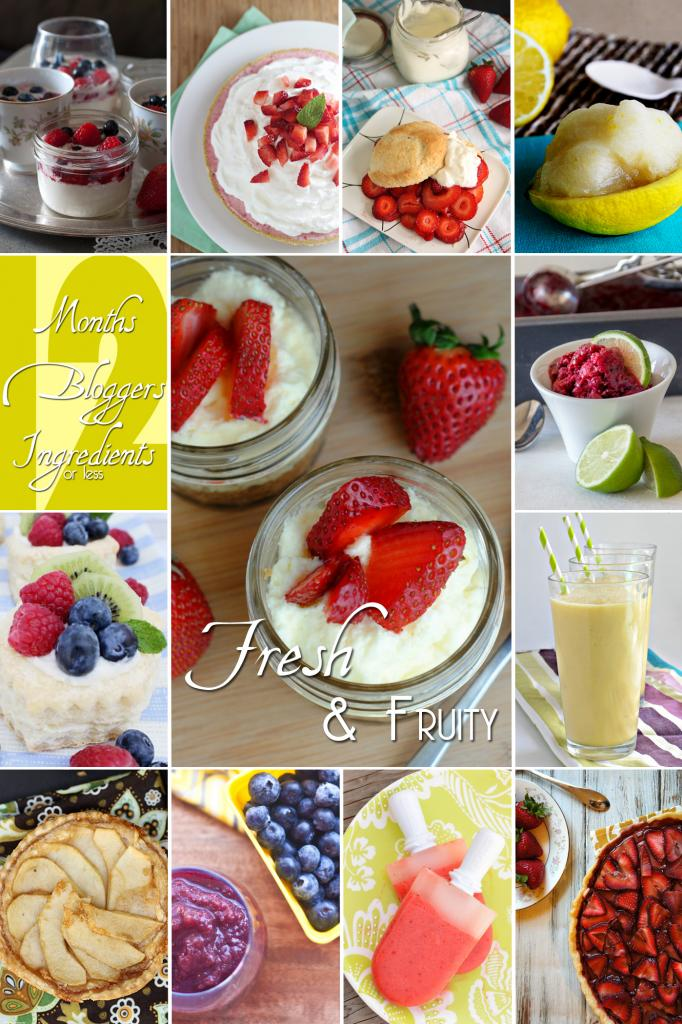 12 Fresh & Fruity recipes #12bloggers