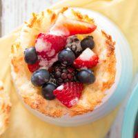 Macaroon Cups with Berries {Gluten Free, Dairy Free, Vegan}