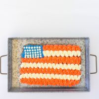 Giant Patriotic Chocolate Chip Cookie