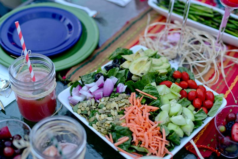 Vegan Cobb Salad and Honey Poppyseed Vinagrette