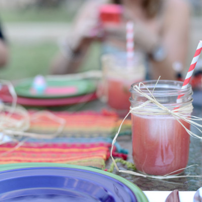 Watermelon Strawberry Agua Fresca