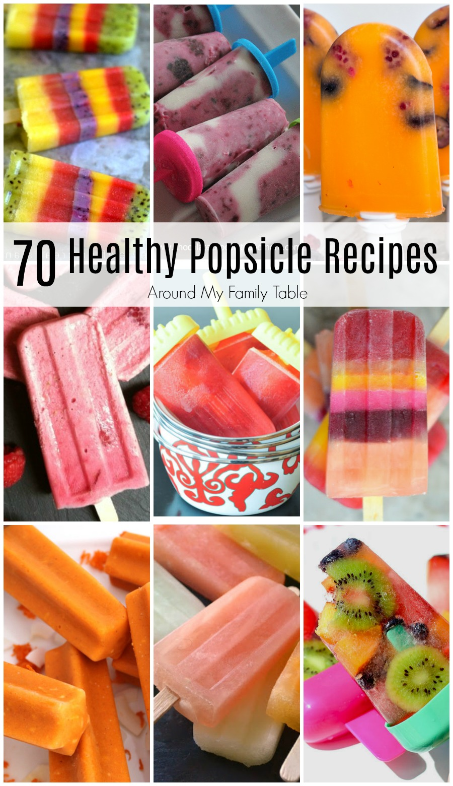 Popsicles are such a perfect treat on a hot day. It's so easy to make your own at home with one of these Healthy Popsicle Recipes....there are over 70 on this list!