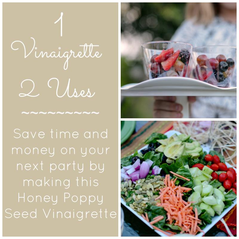 1 Vinaigrette -- 2 Uses {a fruit salad and a cobb salad}
