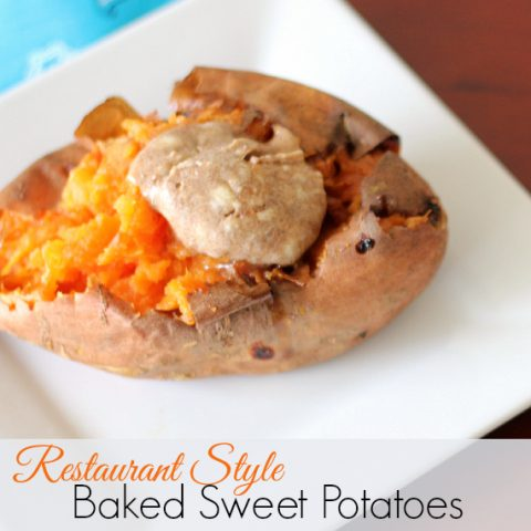 Restaurant Style Baked Sweet Potato Recipe with Cinnamon Sugar Butter