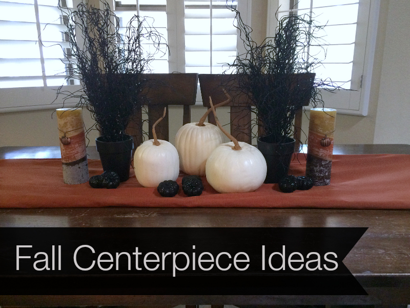 Easy Fall Inspired Centerpiece Idea....great for Halloween too!