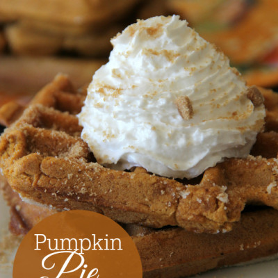 Easy Pumpkin Pie Waffles